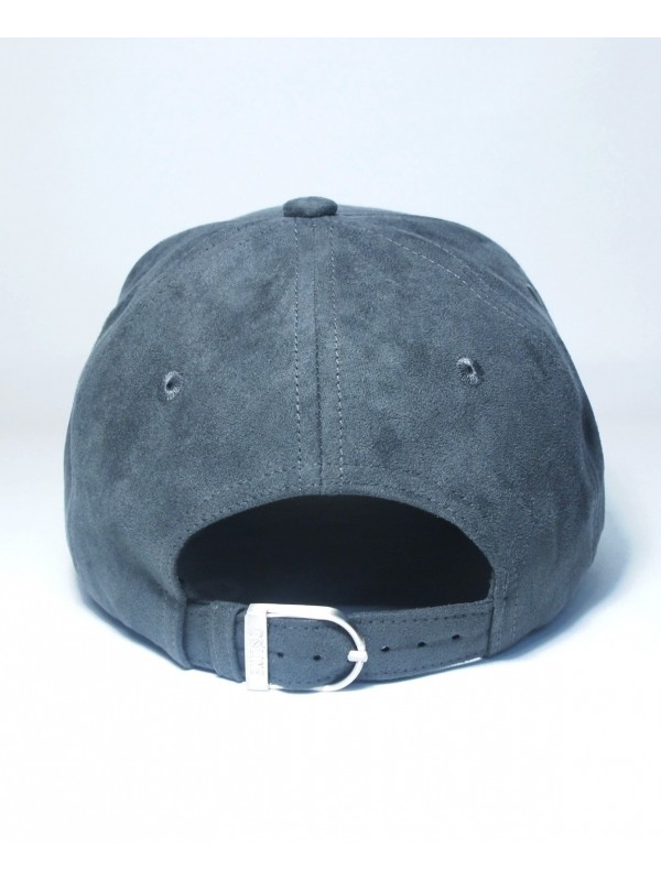 DS|LINE - Suede Trucker Strapback in Black / Black