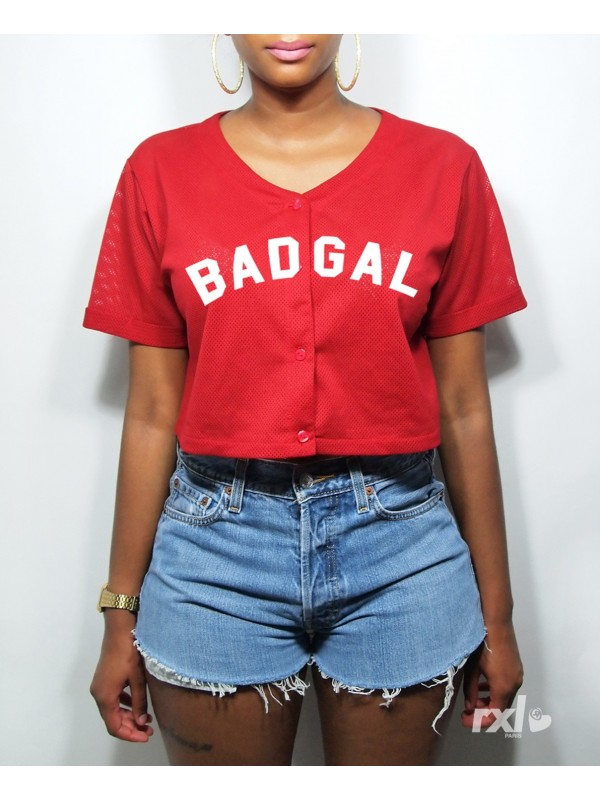 RXL Paris - T-Shirt Mesh Baseball Court Badgal Noir