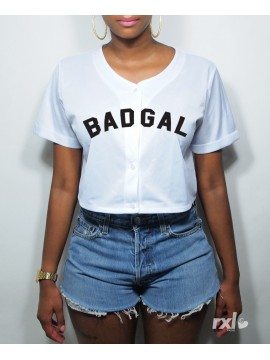 RXL Paris - T-Shirt Mesh Baseball Court Badgal Blanc