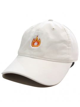 RXL Paris - Fire Emoji Dad Hat Off White