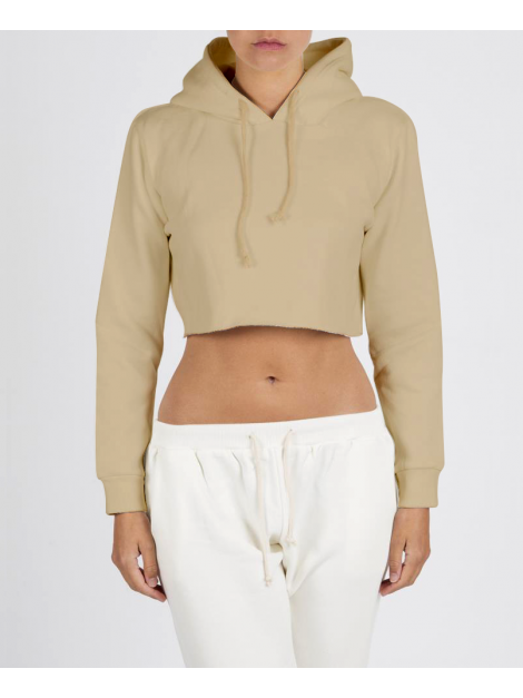 RXL - Crop Top Sweat A Capuche Beige