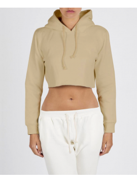 RXL - Crop Top Hooded Sand