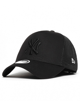 New Era Casquette Trucker MLB New York Noir/Noir
