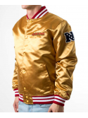 New Era San Francisco 49ers Sateen Bomber Gold