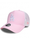 New Era Women Los Angeles Oxford Trucker Pink
