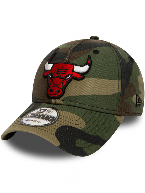 New Era 9Forty Chicago Bulls Faded Camo