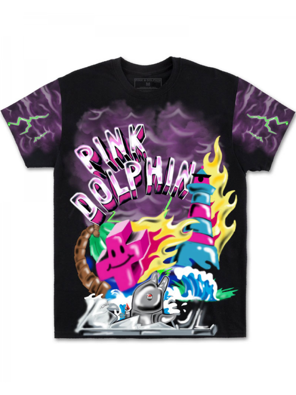 Pink Dolphin T-Shirt Superfuture Noir