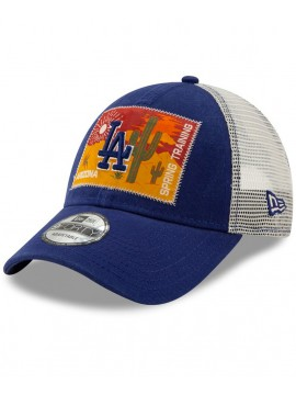 New Era Casquette 9Forty Adjustable Los Angeles Dodgers Royal Patched Trucker 3