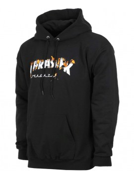 Thrasher Intro Burner Sweat Capuche Noir