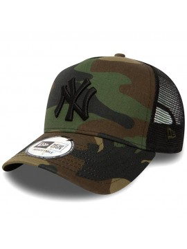 New Era - Casquette New York Yankees Clean A Frame Trucker Adjustable Camouflage