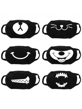 Personalized black adult barrier mask with mouths - Washable and reusable 30 washes
