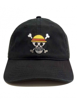 One Piece Embroidered Patch Cap Black