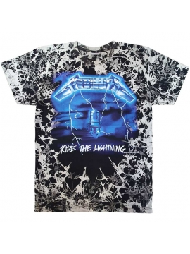T-Shirt Bleach Metallica Ride The Lightning Noir