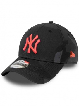 Casquette NY New Era 9Forty New York Neon Logo Camo Noir