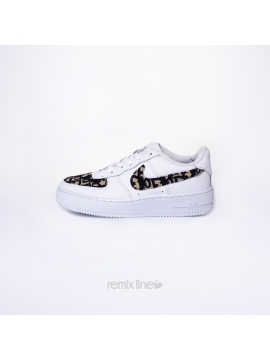 Remix Line Custom - Nike Air Force 1 Kids Dior Custom Monogram Sand