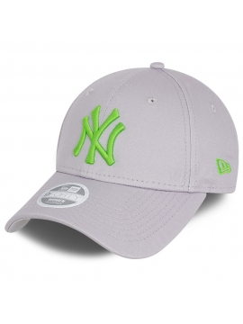 Casquette Femme New Era New York Yankees Essential 9Forty Gris - Vert Fluo