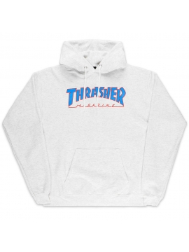 Sweat À Capuche Thrasher Outlined Gris